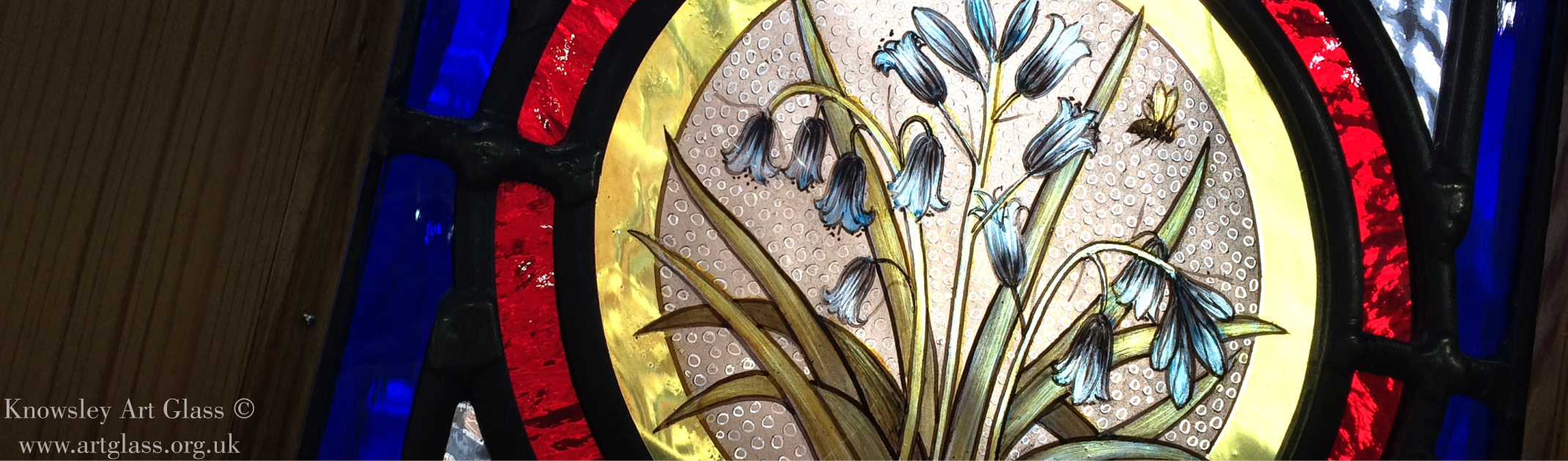 Stained Glass Panel Hand Painted Roundels