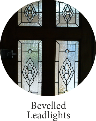 bevelled leadlights