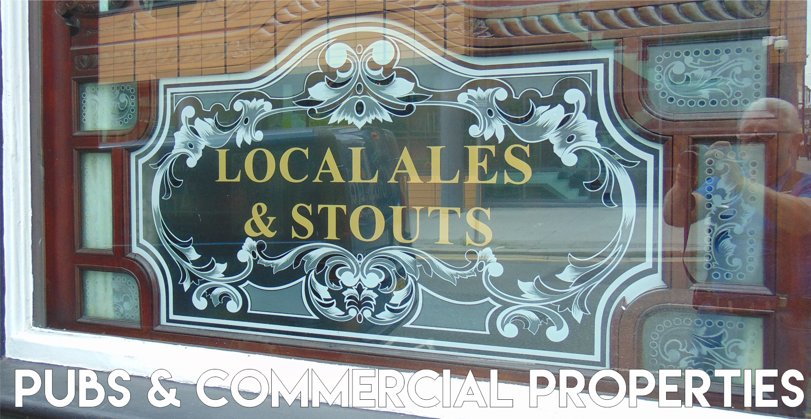 pubs and restraunt window glass decorative