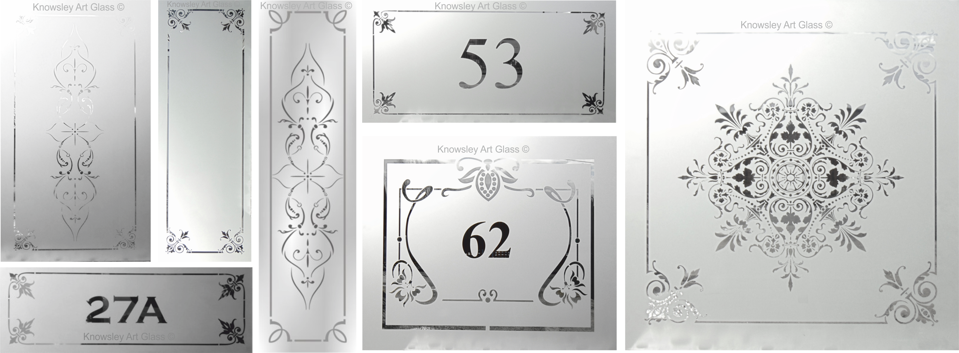 glass door numbers