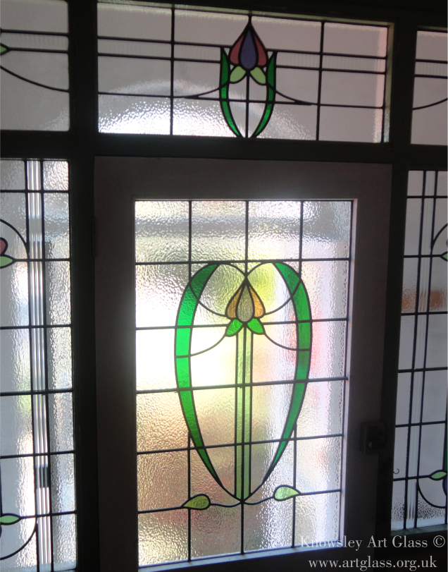 wide panel stained glass