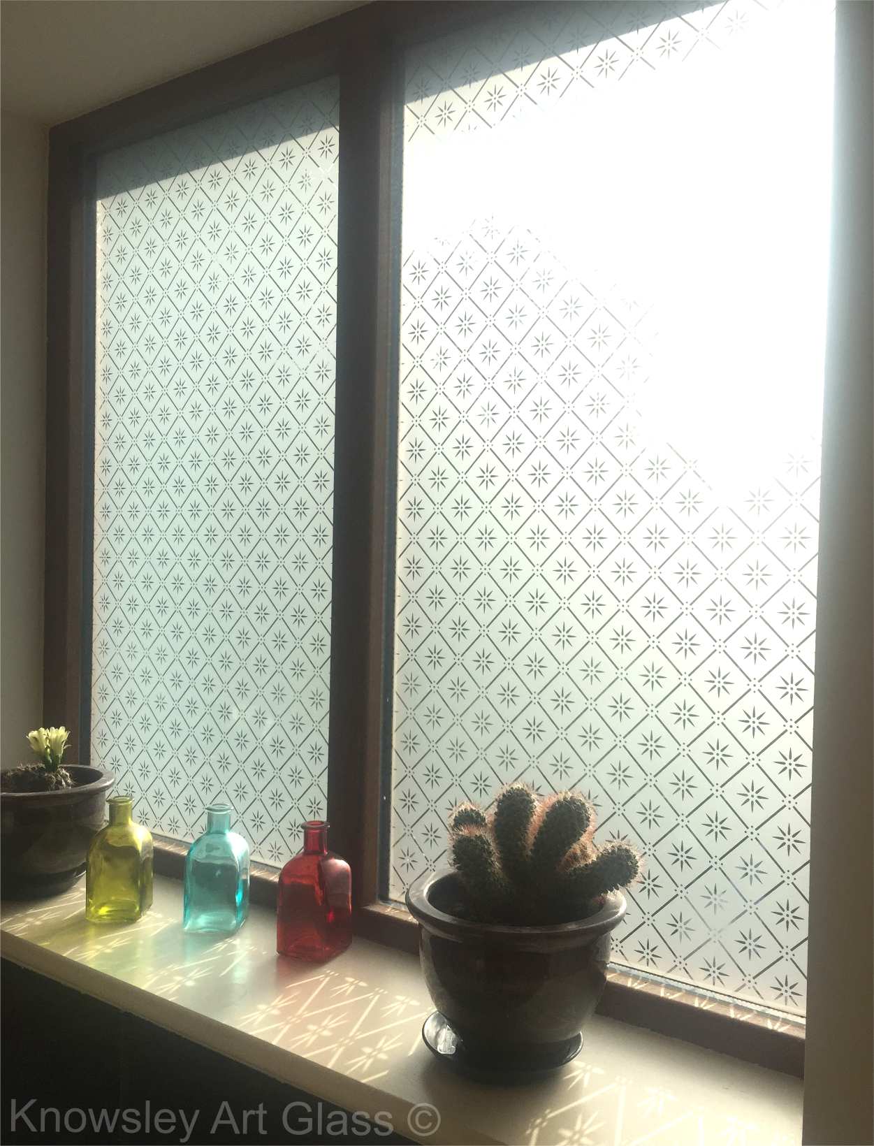 etched glass double glazed units